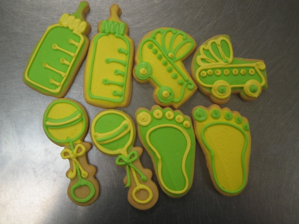 Birthdays events and favors cookies by design englewood nj baby favors green yellow negle Image collections