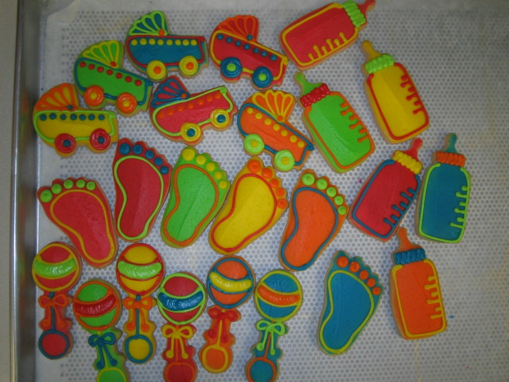 Birthdays events and favors cookies by design englewood nj baby favors bright colors negle
