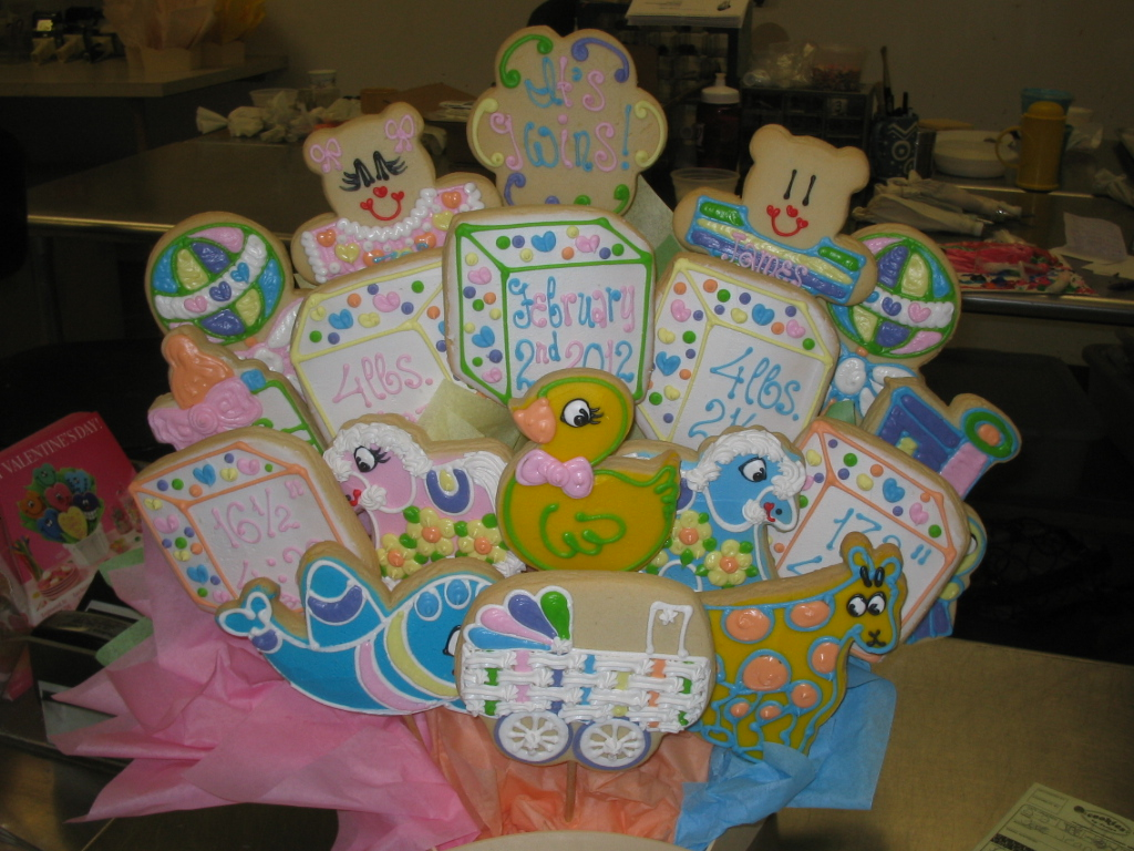 Baby twins boy girl 173 cookies by design englewood nj cookie baby twins boy girl negle