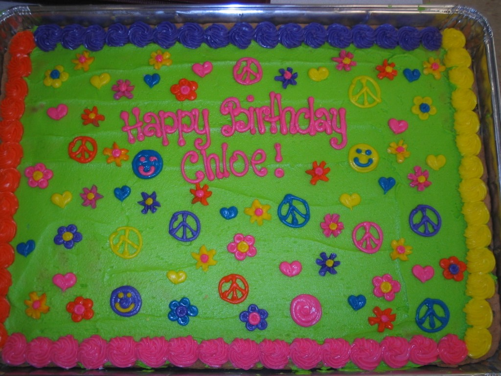 BIRTHDAY PEACE SIGNS SHEET