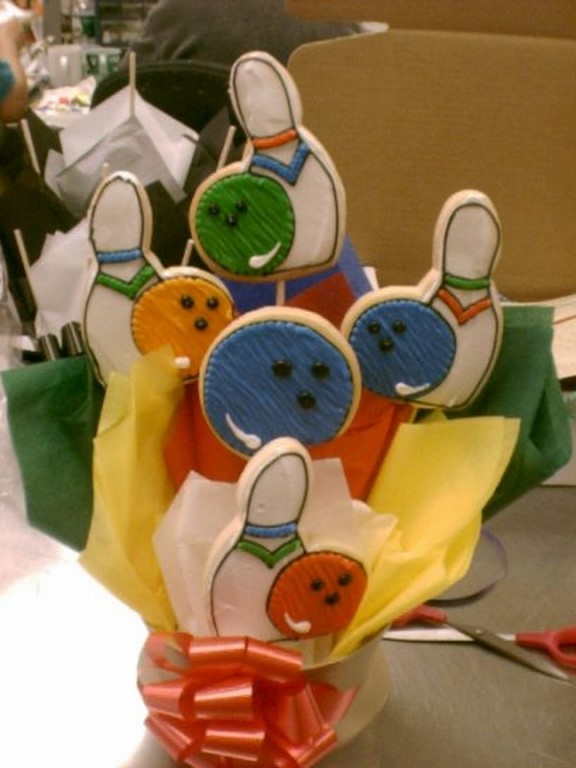 Bowling 1000 Cookies By Design Englewood Nj Cookie Gift